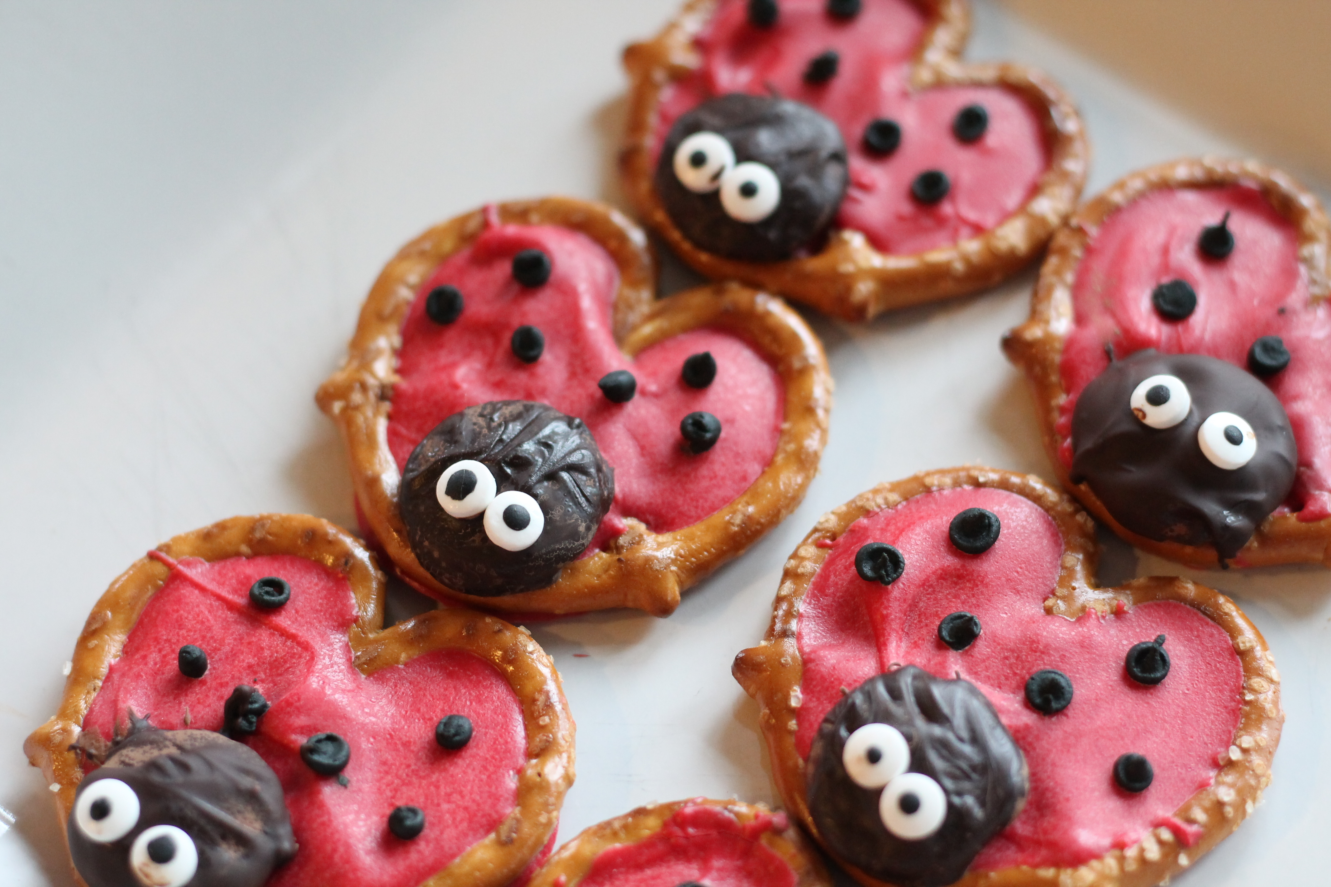 Ladybug party snacks