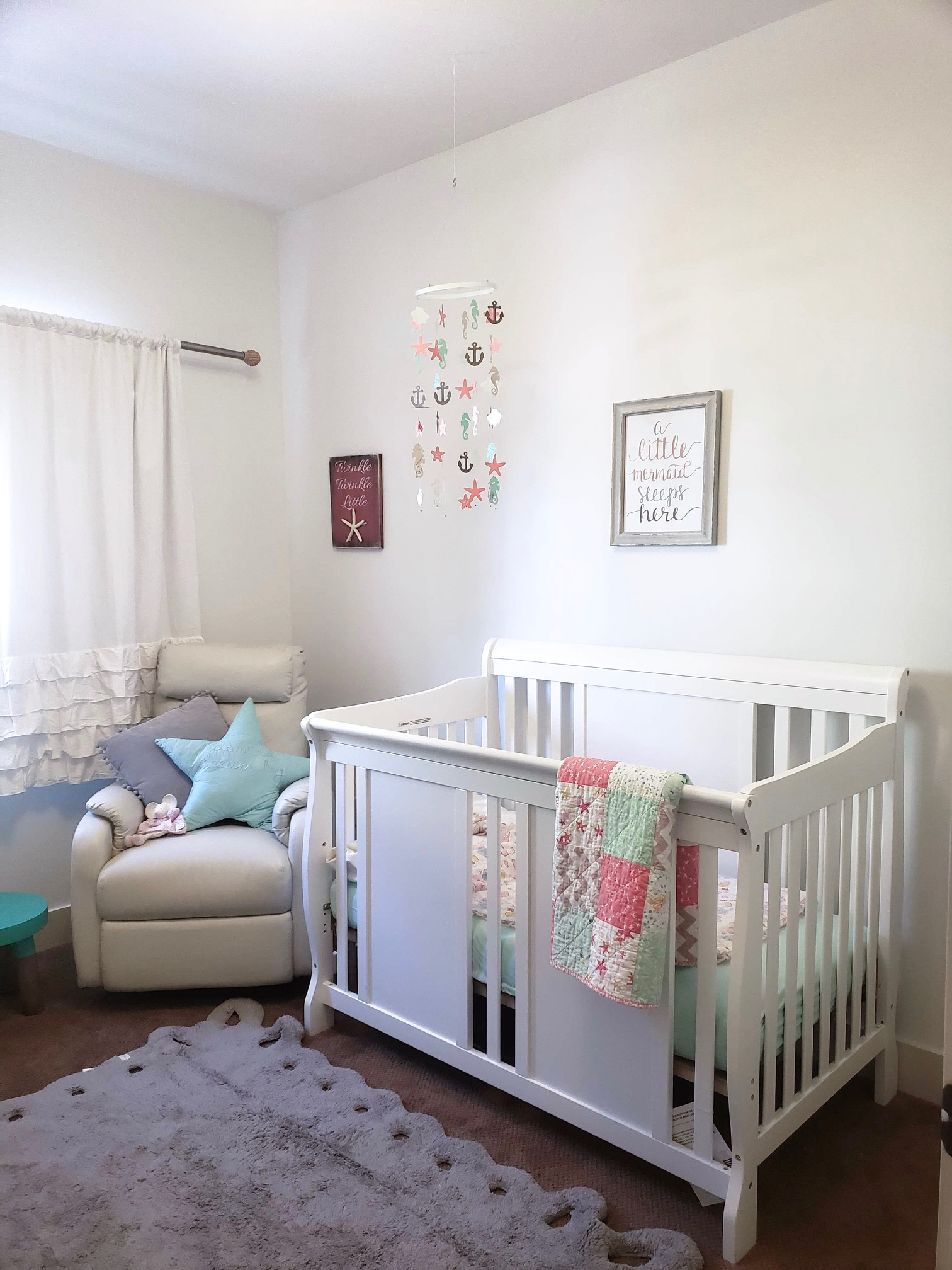 Nautical girl nursery