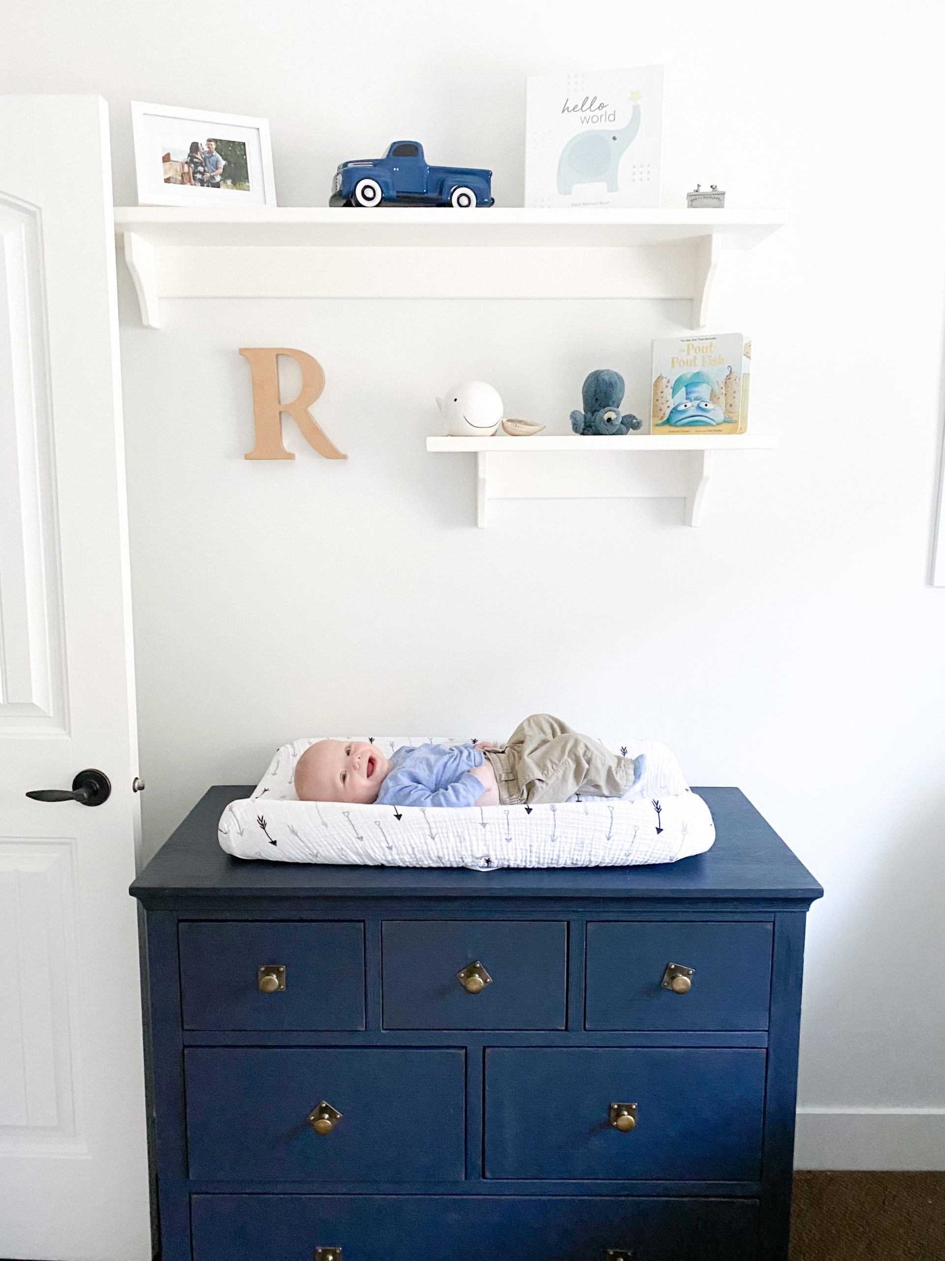 Nautical Nursery Change Table