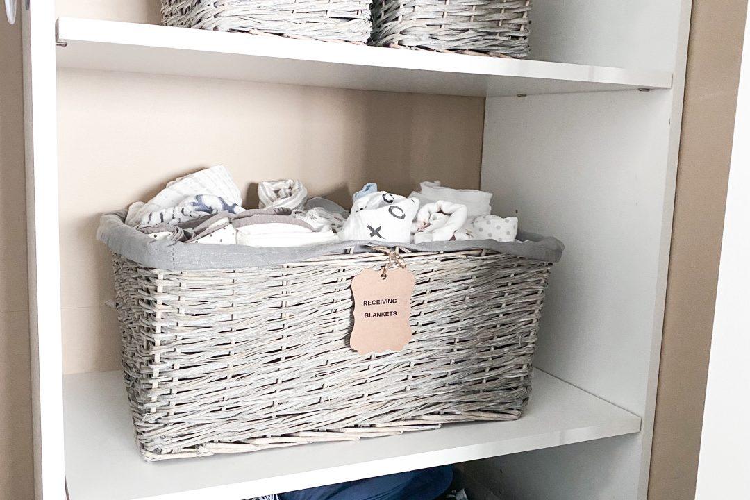 Baby closet storage