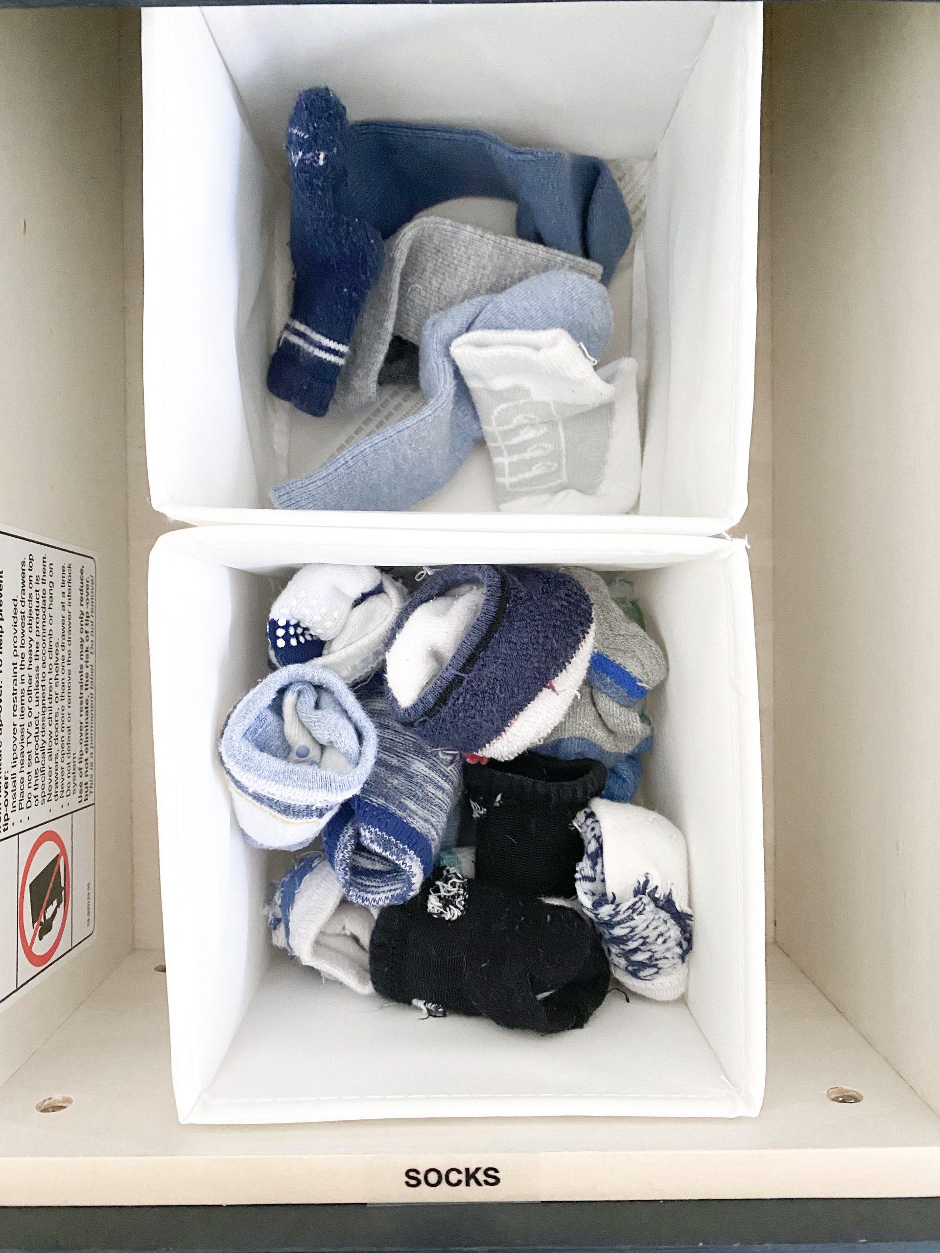 Baby clothes storage hack